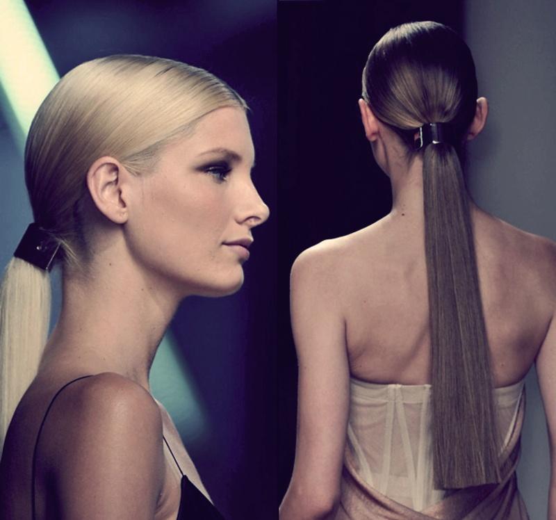 Модная причёска 2017 женская в хвостике