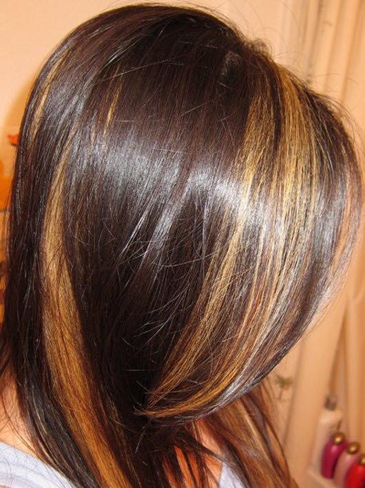 вопрос, как покрасить мелированные волосы в темный цвет есть