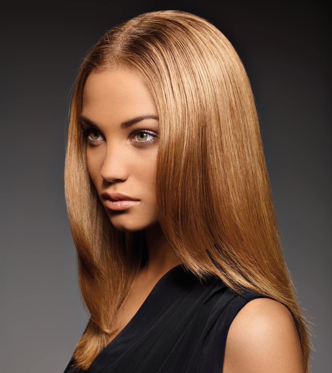Красивый модный цвет волос фото