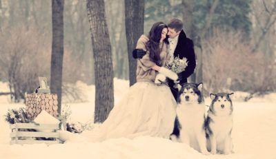 фотосессия на свадьбу зимой