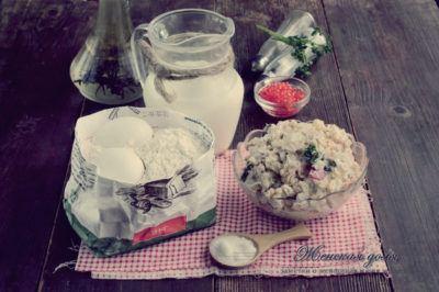 ингредиенты для блинной закуски