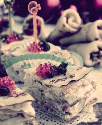 блюдо из блинов к праздничному столу