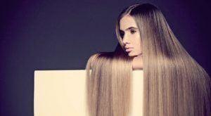 девушка с заламинированными волосами