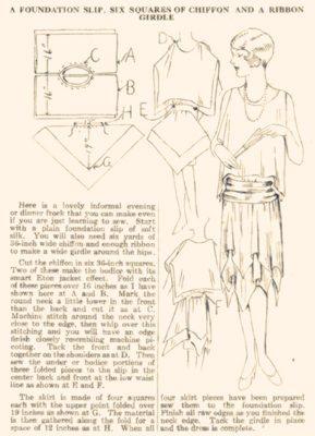выкройка платья в стиле арт-деко