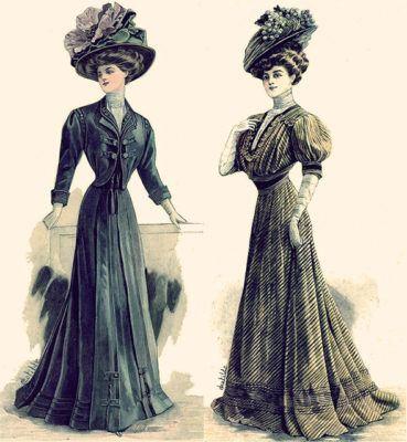мода 1900, платья модерн