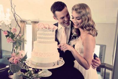 свадебный торт экономичный