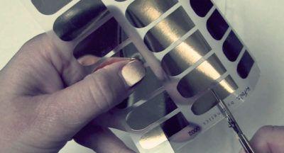 Металлические наклейки для зеркального маникюра