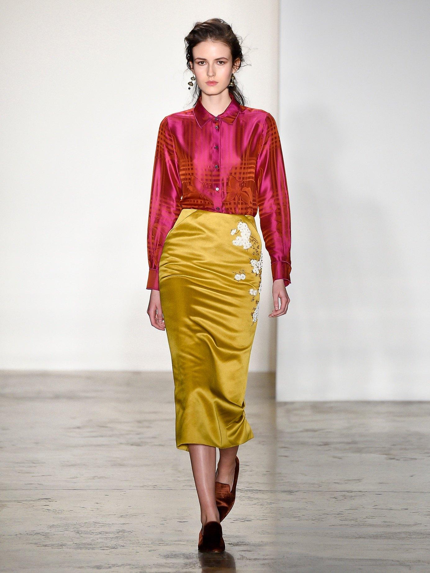С чем носить желтую юбку карандаш, как правильно сочетать цвета