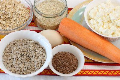 Ингредиенты для сырников в панировке из семечек