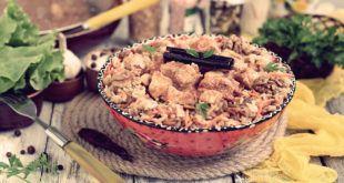 Рецепт курицы карри с ореховым пловом