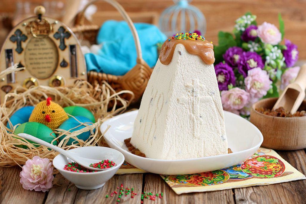 Творожная пасха без выпечки «Карамельная»