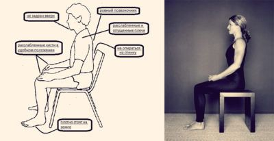 медитация на стуле
