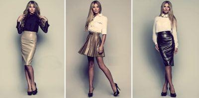 С чем носить кожаную юбку