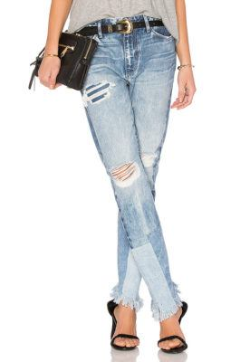 рваные джинсы с бахромой на краях 2018