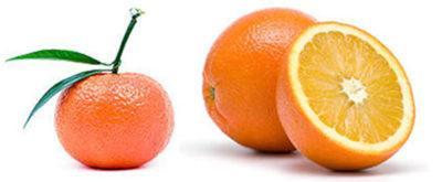 апельсин и мандарин