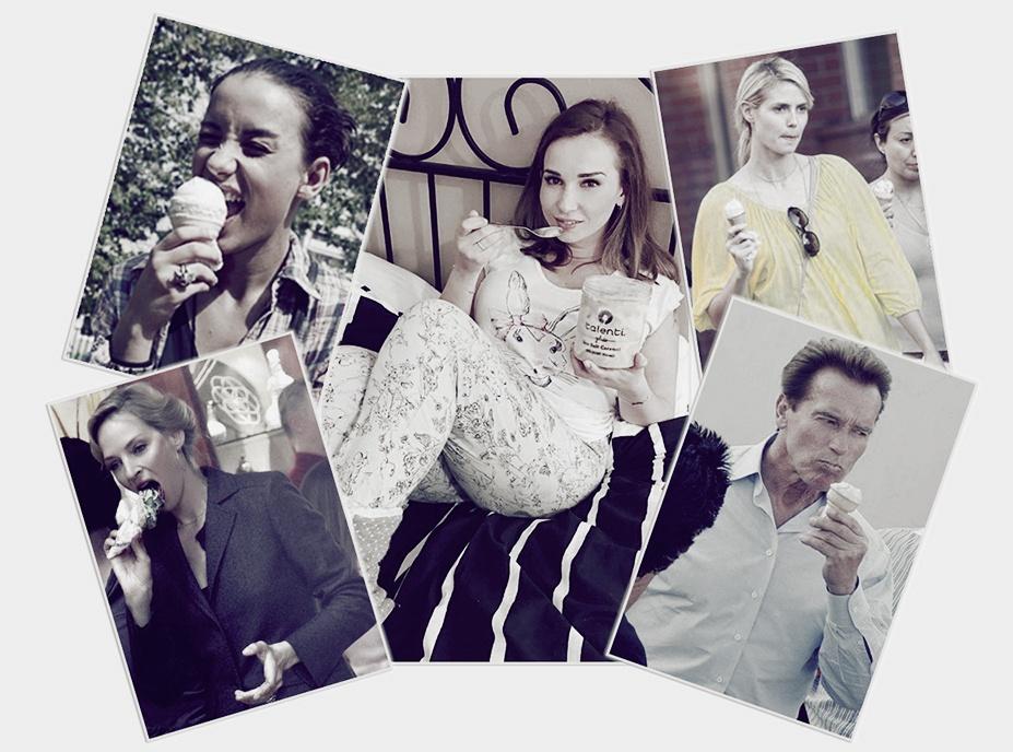 мороженое и знаменитости