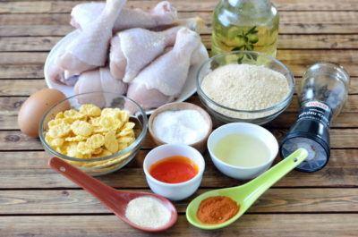 ингредиенты для куриных ножек в панировке