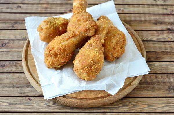Куриные голени в острой панировке с хрустящей корочкой