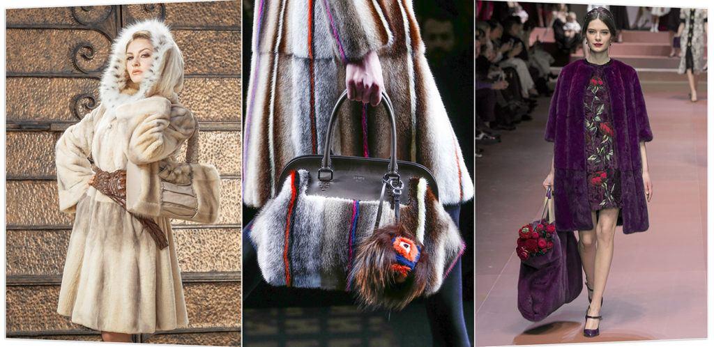 модные меховые сумки 2017