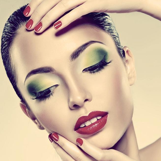 кислотный макияж на новый год
