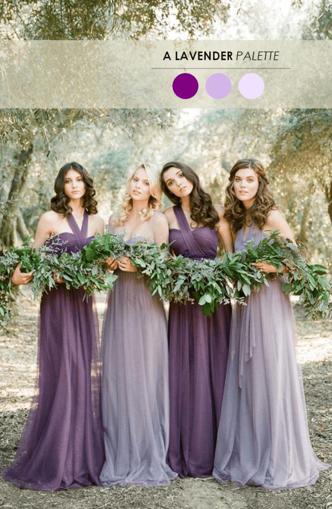 10 свадебных палитр лаванда