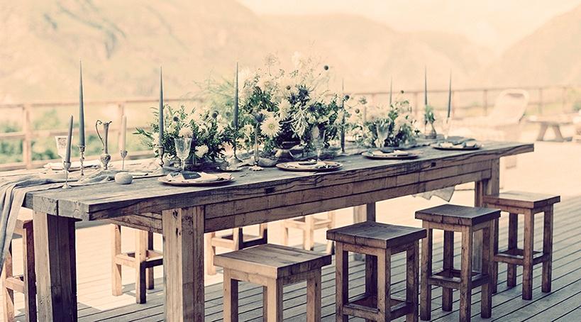 декор «домашней» свадьбы