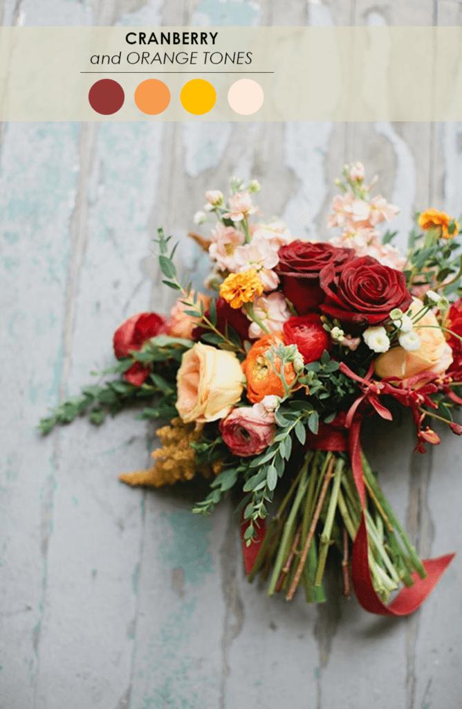 10 свадебных палитр клюква