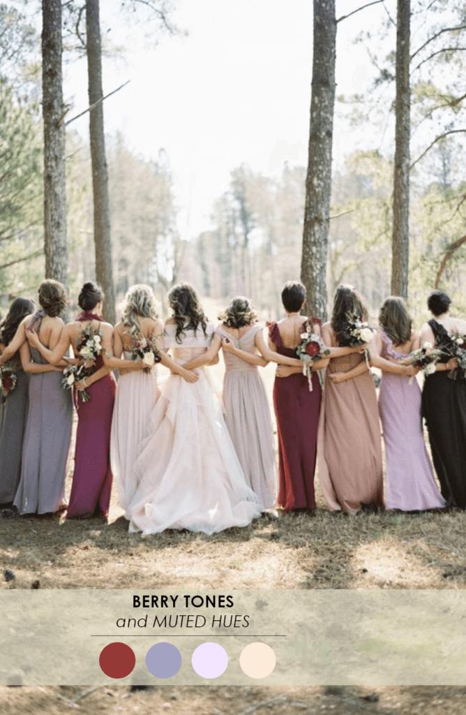 10 свадебных палитр ягодный