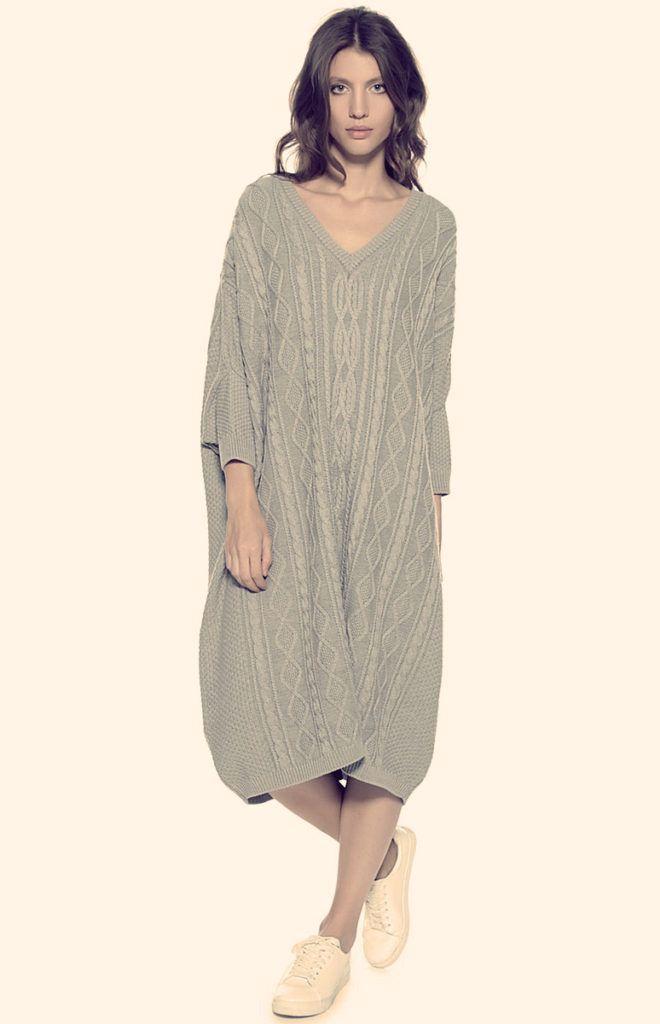 Теплые вязаные платья