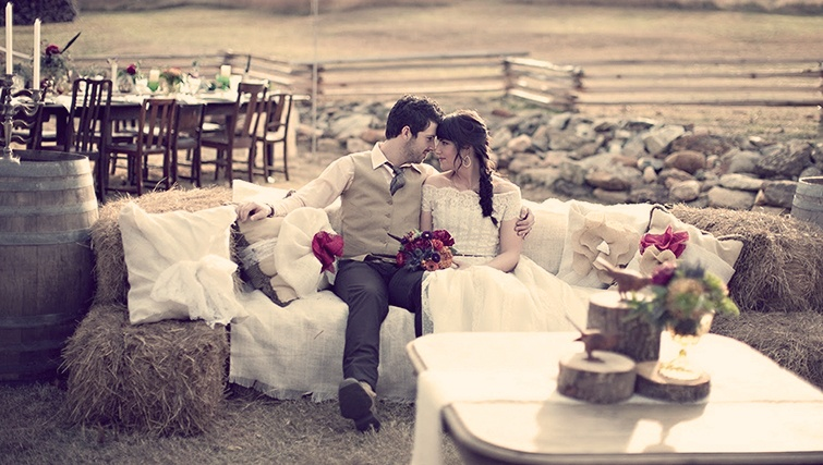 свадьба в тематике деревенский винтаж