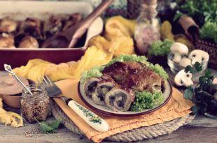 рулетики из куриных бедрышек с грибами запеченные в духовке