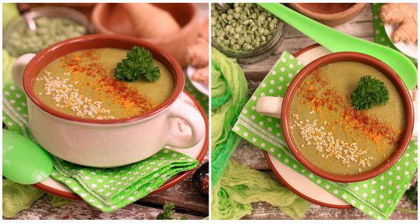 вкусный гороховый суп без мяса с картошкой