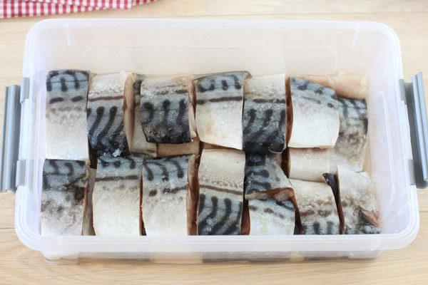 скумбрия соленая кусочками быстрого приготовления