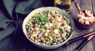постный салат оливье с грибами