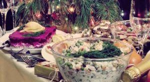 история новогодних салатов