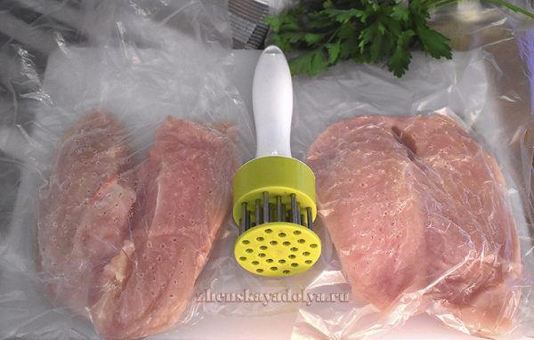 рецепт куриной грудки в духовке со сметаной