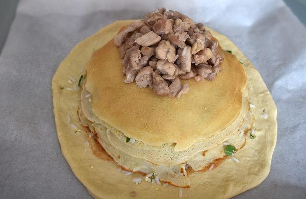 курник в домашних условиях из сдобного теста с начинками из мяса, курицы, риса и грибов